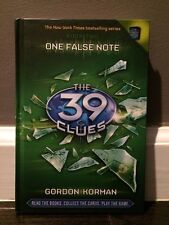 The 39 Clues: One False Note #2 by Gordon Korman (2009, Hardcover)