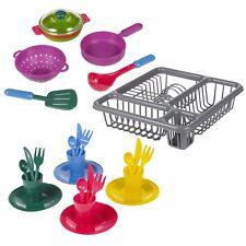 Accesorios de utensilios de cocina de niños 25pc Ollas Bandejas Platos Cubiertos Conjunto de Juguete Juego de Rol