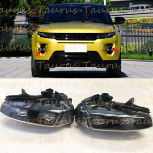 For Range Rover Evoque 2012-2015 L&R LED Black Daytime Running Light Fog Light