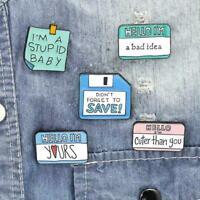 schöne niedliche Cartoon Emaille Kragen Revers Pin Corsage Brosche Modeschm B1Q0