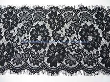 3 meters lace trim eyelash fabric vintage venise French Chantilly  29cm wide