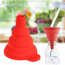 Mini Silicone Foldable Funnel Hopper Kitchen Cooking Tool For water splashing