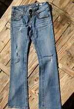 MISS ME jeans womens size 27 Cross *BLING POCKETS boot cut JP5412 Distressed