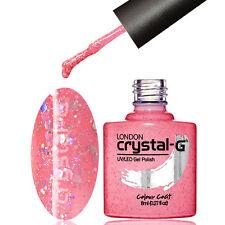 CRYSTAL-G - D21 HOT PINK DIAMOND GLITTER SHIMMER UV LED GEL NAIL POLISH VARNISH