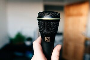 ELECTROVOICE N/D967 CONDENSER MICROPHONE w/LEATHER CASE LIVE HOME STUDIO MUSIC