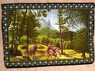 """Vintage Deer Tapestry / Wall Hanging -  40""""x 57"""" A.T.C New York, Doe Buck Bambi"""