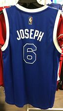 NBA Toronto Raptors Corey Joseph Adidas Jersey Blue Huskies Swimgman Small Retro
