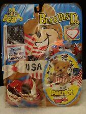 "Fibre Craft Proud American Bear Blvd Usa Patriot Outfit for 10-12"" Bears Nip"