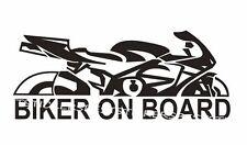 2x Biker On Board Aufkleber Car Window Bumper Sticker Vinil Decal 032