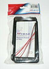 MYBAT Motorola Droid 3 XT862 Glossy Plain Solid Black Case ISO 9001 QC PASSED