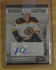 2012-13 CERTIFIED MAXIME SAUVE AUTO #ED 399/999 # 171 BOSTON BRUINS