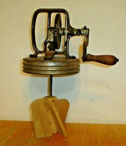 Antique Dazey No 30 Primitive Hand Crank Butter Churn Lid w/ Wood Paddles No Jar