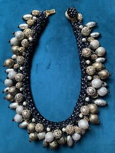 Vintage Miriam Haskell Beautiful Beaded Necklace