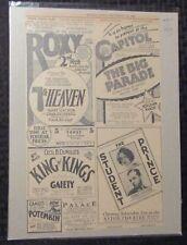 "1927 ROXY / CAPITOL / ASTOR 8x13"" Movie Print Ad VG+ 4.5 NYC Theatre District"
