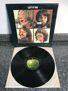 LP VINYL ALBUM RECORD THE BEATLES LET IT BE 1970 UK 1ST PRESS PCS 7096 VG+/EX