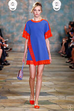 Tory Burch Marissa Lace Trim Dress Tunic Runway Blue XS RARE 2 NWT $595