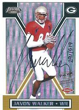 JAVON WALKER  2002 Pacific EXCLUSIVE #'d Auto Autograph RC  GREEN BAY PACKERS WR