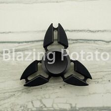 Ninja Star Fidget Spinner Tri Spinner Figet Desk Toy Focus EDC ADHD ☆USA☆ BLACK