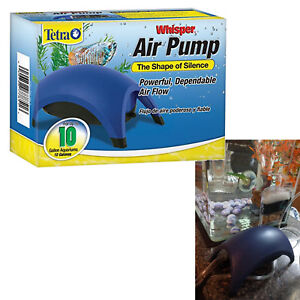Air Pump for Aquariums Whisper Easy to Use Non-UL up to 10 Gals Silent Fish Tank