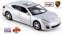 Maisto Power Racer Diecast Silver 2011 Porsche Panamera Turbo 1:43