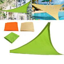 Waterproof Shade Sail Awning Cloth Triangle Sand Sun UV Canopy Outdoor a N U