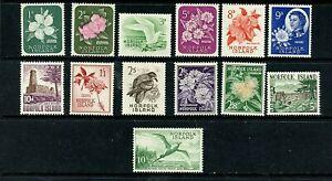 Norfolk Islands #29-41 (NO035) Complete Flowers and birds, MNH, VF, CV$53.85