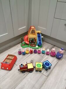 PEPPA PIG Bundle 10 Weebles Interactive Play House Train & Car toys!!