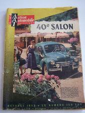 REVUE L ' ACTION AUTOMOBILE TOURISTIQUE , OCTOBRE 1953 . 40 e SALON .