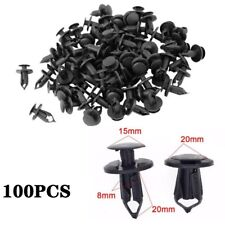 100x 8mm Plastic Hole Dia Rivets Fastener Push Pin Clips Fender Bumper for Car