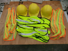 North Yellow hard construction helmets & safety vests