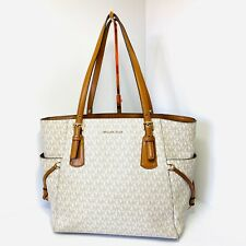 Micheal Kors Voyager East West Vanilla Signature Tote