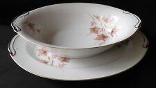 Harmony House ALICE 3651 Oval Serving Bowl & Platter Fina China MINT!