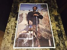 Snoop Dogg Rare Signed St. Ides Malt Liquor Beer Promo Poster 1994 Rap Hip Hop