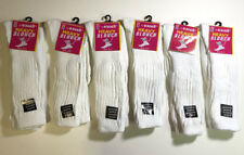 6 Pairs Women Cotton White Color Heavy Slouch Socks NEW