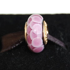 "Genuine Pandora Gold Murano ""Purple Lotus"" - 750505 - retired"