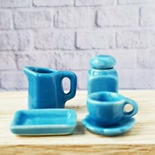Miniature Dollhouse FAIRY GARDEN Accessories Ceramic Pitcher Coffee Tea Cup Set