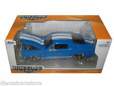 1967 FORD SHELBY MUSTANG GT-500 BLUE W/WHITE STRIPES 1/24 MODEL CAR JADA 97401
