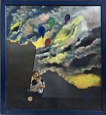 2 xUNBEKANNTER SURREALIST - MIGUEL RODRIGUEZ SPAIN - FAMILY VISIONS - MODERN ART