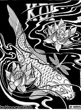 KOI by Horimouja Japanese Carp Fish Tattoo Book Scan Digital JPG Files on CD
