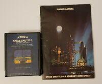 Atari 2600 Game ~ Space Shuttle ~ Game Cartridge w/ Manual ~ Tested Good