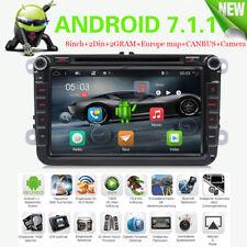 """8"""" 2 Din Android 7.1 Autoradio DVD Player GPS NAVI DAB+ Für Volkswagen VW Series"""