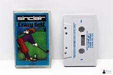 Sinclair ZX Spectrum 48k gioco-CRAZY GOLF-COMPLETAMENTE in guscio OVP BOXED
