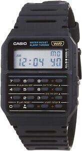 Casio CA53W-1, 8-Digit Calculator Watch, Resin Band, Day/Date, Alarm, Chrono