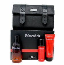 DIOR FAHRENHEIT 4 PIECE SET FOR MEN EAU DE TOILETTE SPRAY 100ML