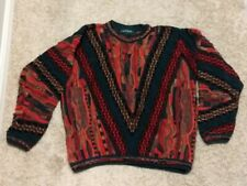 Tundra Canada Sweater Men Size Large Multicolor Mercerized Cotton Coogi Style