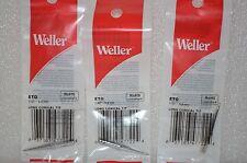 3x Original Weller ETO Solder Soldering Tip fits Stations WES51, WESD51