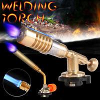 Flamethrower Burner Butane Gas Blow Torch Ignition Welding Camping BBQ Baking UK