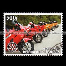 ★ HONDA VFR 750 & 800 ★ BENIN Timbre Moto / Motorcycle Stamp #448