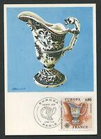 FRANCE MK 1976 EUROPA CEPT FAIENCE MAXIMUMKARTE CARTE MAXIMUM CARD MC CM d011