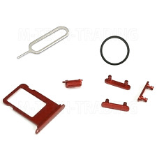 ORIGINAL RED POWER VOLUME BUTTON SET & SIM TRAY SIM PIN & GASKET FOR IPHONE 7+